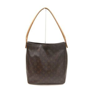 Auth Louis Vuitton Looping Gm Brown #20465L24